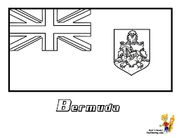 Flag Bermuda Coat Of Arms Coloring Page Jamaica Sheets Barbados Colors Outline 65