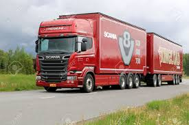 100 V8 Trucks LIETO FINLAND MAY 30 2014 Scania R730 Euro 6 Truck For