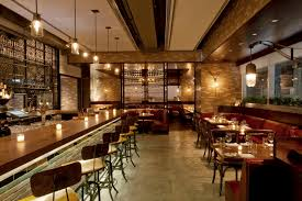 The Breslin Bar And Grill by Wood Counter Tiled Die Wall Integration Of Fretwork And Storage