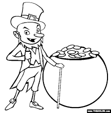 St Patricks Day Online Coloring Pages