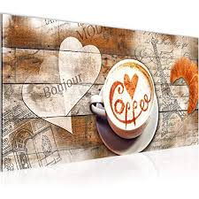bilder küche kaffee wandbild 100 x 40 cm vlies leinwand