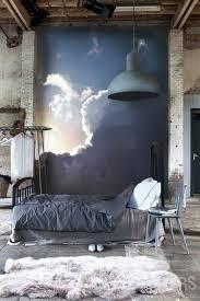 chambre industriel chambre à coucher lit style industriel metal deco le lit style