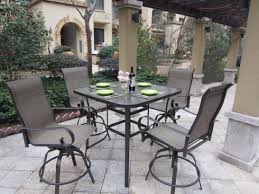 9 Piece Patio Dining Set Round Table And Chairs 60 Inch Outdoor Top Furniture Lowes