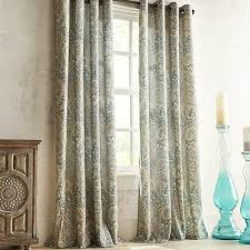 Pier 1 Imports Curtain Rods by Seasons Paisley Teal Grommet Curtain Pier 1 Imports
