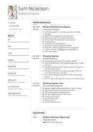 Mechanical Engineer CV Example