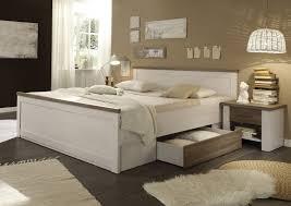 luca bettanlage bett schlafzimmerbett 2 nachtkästchen pinie weiß trüffel günstig möbel küchen büromöbel kaufen froschkönig24