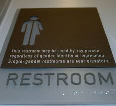 Gender Inclusive Bathroom Sign by Transgender Restroom Sign Ada Compliant My Style Pinterest