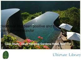 100 Hanging Gardens Of Bali PPT Case Study Ubud Hotel