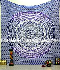 Trippy Bed Sets by Ombre Tapestries Wall Hangings Blue Grey Purple Black U0026 White