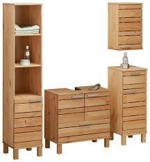 home affaire badmöbel set josie set 4 tlg aus massivholz verstellbare einlegeböden metallgriffe kaufen otto