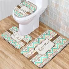 großhandel bunte brick badmatte rutschhemmende badezimmer teppich toilettensitzabdeckung boho toiletten matte für hauptdekor fußmatte teppiche