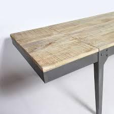 impressionnant table industrielle avec rallonge avec table a