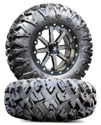 100 14 Inch Truck Tires MSA M21 Lok 27 MotoClaw Wheel Tire Kit