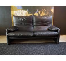 canap cassina canapé maralunga cuir grigio cassina canapés fauteuils vente