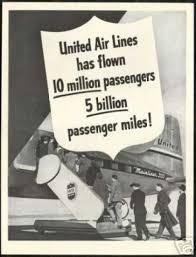 United Airlines Mainliner 300 Vintage Photo 1948