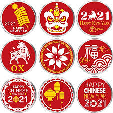 Items Where Year Is 2021 Zonon 324 Pieces New Year 2021 Chocolate Sticker Year Of The Ox Decoration 2021 Favor Label Supplies