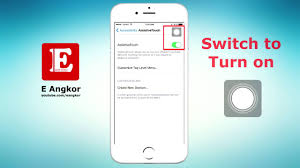 How to turn on or enable or show Easy Touch on iPhone 5 6 7