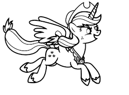 My Little Pony Applejack Running Coloring Page