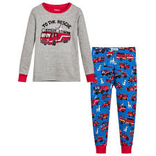 Hatley - Boys 'Fire Trucks' Organic Pyjamas | Childrensalon Outlet