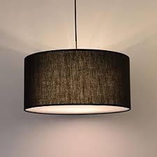 pendelleuchte klassisch schwarz stoff lenschirm 3 flammig