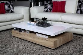table basse design dessus en bois laqué blanc martens mobilier