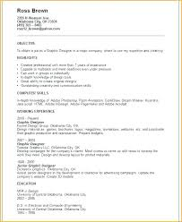 Graphic Design Resume Examples 2014 Feat Sample For Designers Student Samples