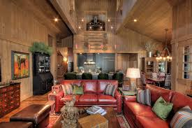 Living Room Decorating Ideas Black Leather Sofa by Brown Leather Couch Living Room Family Room Rustic With Artwork