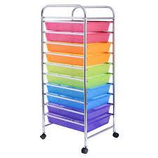 Amazon Giantex 10 Drawer Rolling Storage Cart Scrapbook