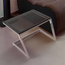 bout de canap verre bout de canapé en verre gris fumé syne sur cdc design
