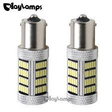 2x white p21w 1156 ba15s 92 smd lens led car lights bulbs 900
