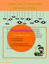 Scary Halloween Riddles And Answers by Halloween Party Game Printable Halloween Game Spooky