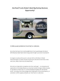 Are Food Trucks Dubai's Next Big Startup .pdf - PDF Archive The Best 5 Books For Food Truck Entpreneurs Floridas Custom Boo Coo Roux Is A Cajun Centric Food Truck Startup Serving Spin Vegan Crunk Memphis Trucks Raw Girls Savoury Table Mothers Day Or Two And An Arepas Recipe Start Up Tampa Bay Heisenberg Lance Son Startup Heroes 2 Youtube Starting A Business Youtube Trucking Company Plan Revolution In India Ek Plate Restaurant One Fat Frog Green Commercial Kitchens How To Write For Genxeg