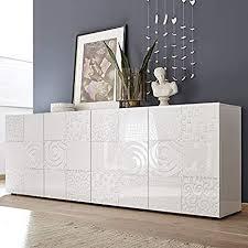 anrichte m 012 weiß lackiert 240 cm design elma 4 türen