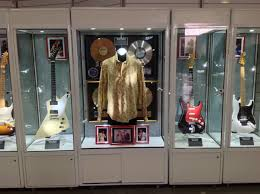Rock N Roll Memorabilia Cabinet Mannequin Display