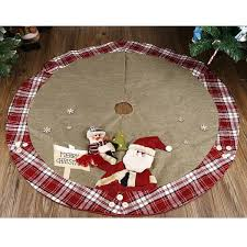 Red And Green Plaid Tree Skirt Raveitsafe