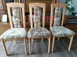 3 küchenstühle esszimmer stühle buche massivholz gepolstert