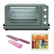 Cuisinart TOB 60N1BKS2 Convection Toaster Oven Black Stainless Includes Kuhn Rikon Small Santoku Colori