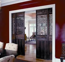 Interior Barn Door For Home With Decorative Carving Room Divider ... Cheap Sliding Interior Barn Doors Exteriors Door Hdware Dallas Tx Track For Homes Idea Bedroom Farm For Double Remodelaholic 35 Diy Rolling Ideas Diy Home Design Plans Small Mini Door Inside Stunning Best Pocket Fniture New With Decorative Carving Room Divider Amazoncom Tms Wdenslidingdoorhdware Modern Steves Sons 36 In X 84 Rustic 2panel Stained Knotty Alder