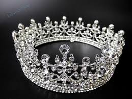 2015 new arrival fashion women full round queen pageant rhinestone