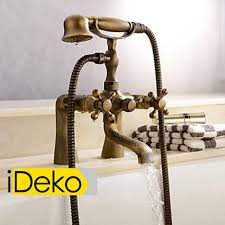 ideko robinet mitigeur baignoire lavabo salle de bain design rétro