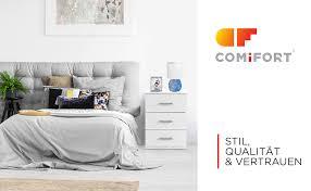 comifort nachttisch für das schlafzimmer nordischer stil modern und minimalistisch mit 3 breiten schubladen sehr robust weiß