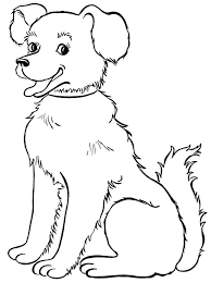 Beautiful Dog Coloring Page