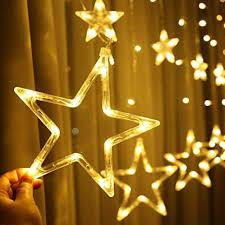 ldtswes led weihnachtsstern vorhang lichter linkable