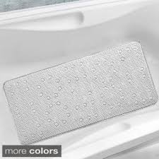 Bathtub Mat Without Suction Cups by Premium Loofah Like Non Slip 17 X 29 Bath Mat Free Shipping On