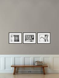 Bathroom Decor Set Of 3 Photographs Art Rustic Vintage Shabby Chic Bath Wall