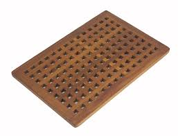 Teak Bath Caddy Au by Amazon Com The Original Teak Grate Bath Shower Mat Home U0026 Kitchen