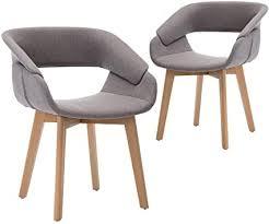 teraves esszimmerstuhl 2er set büro lounge wohnzimmer küche stuhl mit holzbeinen esszimmerstühle mit armlehnen und rückenlehne 2 pcs grau
