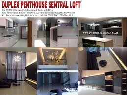 100 Loft Sf FULLY FURNISHED DUPLEX PENTHOUSE SUASANA SENTRAL LOFT By