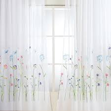 amerikanischen gesticktes sheer vorhänge für schlafzimmer bunte blumen tüll vorhänge für wohnzimmer die küche fenster vorhang garn