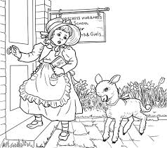 Click To See Printable Version Of Mary Had A Little Lamb Nursery Rhyme Coloring Page